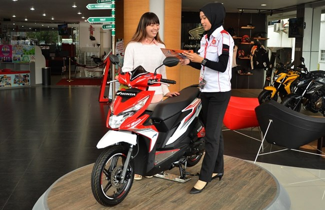 All New BeAT eSP di dealer Honda